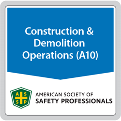 ANSI/ASSP A10.49-2015 Control of Chemical Health Hazards in Construction and Demolition Operations (Digital only)