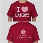 ASSP Foundation I Love Safety Shirt (Unisex) Medium