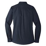 Womens Long Sleeve Dress Shirt  - Navy 3XL