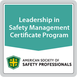 Leadership in Safety Management Certificate Program