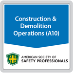 ANSI/ASSP A10.1-2011 (R2017) Pre-Project and Pre-Task Safety and Health Planning for Construction and Demolition Operations